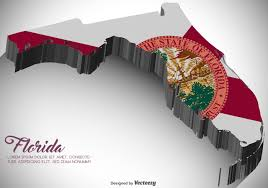 Flags Of Florida Vector 3d Florida Map With Flag Download Free Vector Art Stock