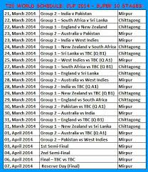 Cricket World Cup Table Icc World T20 2014 Trophy Match Schedule Time Table Cricket