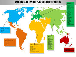 continent map editable continent map with countries