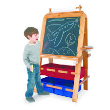 best easel for toddlers amazon com melissa doug wooden magnetic tabletop art easel for