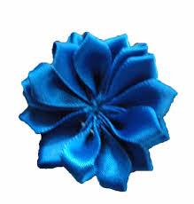 royal blue ribbon satin ribbon flowers