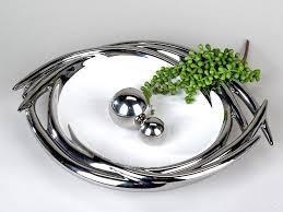 modern decorative bowl fruit bowl white silver ceramic diameter
