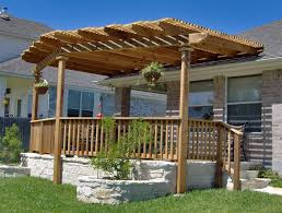 Wood Pergola Designs And Plans by Exterior Backyard Patio Pergola Ideas Design With Wooden Rail Half