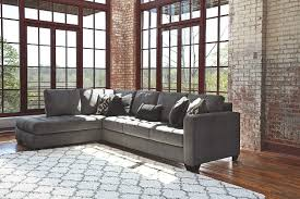 charcoal sectional sofa owensbe 2 piece sectional ashley furniture homestore