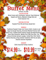 thanksgiving supper menu thanksgiving dinner at the sands buffet things to do in reno