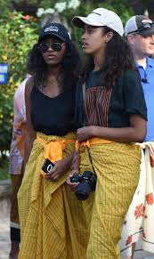 sasha and malia obama are on vacation with their parents in