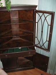 Cheap Home Decor Canada by Sold Antique Corner China Cabinet 1945 Made In Canada Estate
