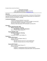 Examples Of Registered Nurse Resumes by 7 New Graduate Nurse Resume Examples Resume New Grad Nursing