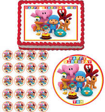 pocoyo cake toppers pocoyo edible cake topper cupcake image decoration birthday party