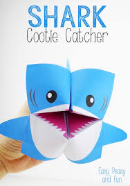 shark cootie catcher origami for fortune teller catcher