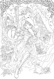anime coloring pages to print for teenagers 01 in anime coloring