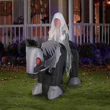 6 u0027 airblown inflatables large ghost rider halloween decoration