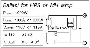 high pressure sodium ballast wiring diagram wiring wiring