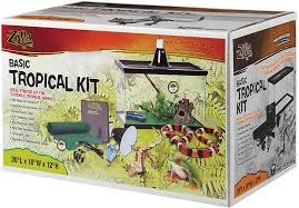 zilla tropical reptile terrarium starter kit with light and heat