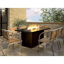 slate outdoor dining table new dining table with fire pit woodard hammered 48 in round fire pit