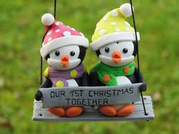 together penguin ornament personalized
