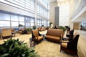 interior office lobby design with wooden divider ideas modern