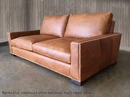 Brompton Leather Sofa The Braxton Twin Cushion Leather Sofa
