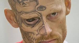 man with tattooed eyeball and face gets 22 years jail