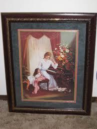 home interior lady u0026 child at piano picture homeco