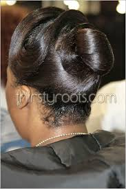 black hairstyles ocean waves relaxed hairstyles updo with finger waves thirstyroots com