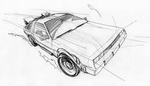 futuristic cars drawings fire bad back to the future is now available