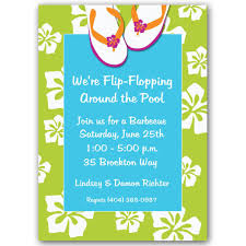 pool party invitations flip flops pool party invitations paperstyle