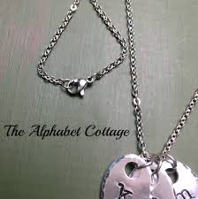 necklace with kids initials kids initials s necklace your child s initial of