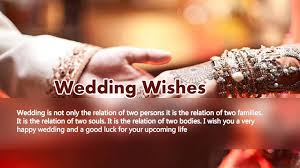 wedding wishes wedding means a new relationship