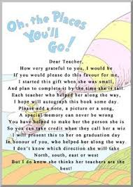 oh the places you ll go graduation gift i had my daughters preschool teachers sign the book oh the places