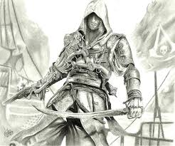 Assassins Black Flag Tutorial To Draw Assassins Creed 4 Black Flag Step By Step Easy