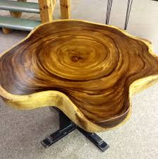 buy a handmade live edge exotic dining table with mission style
