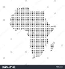 Detailed Map Of Africa by Dotted Map Africa Vector Eps 10 Stock Vector 670528954 Shutterstock