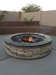 Large Firepit Fireplaces And Pits South County Rockery Brilliant Large Pit
