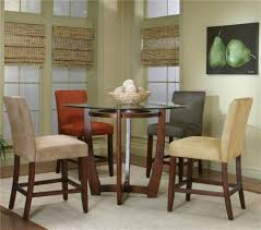 acrylic home design inc home design round counter height dining table set 42 inch round