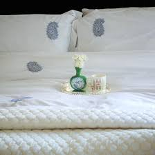 Bed Quilts Online India Pure Cotton Duvet Covers White Home Linens Embroidered Home