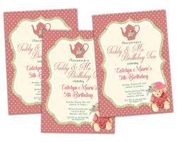 teddy bear tea party birthday invitations u2014 party print express