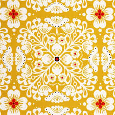 yellow flower fabric with flower ornaments michael miller flower