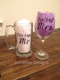 his and hers glassware mr mrs glasses mrs wine glass mr mug i m his mrs i m