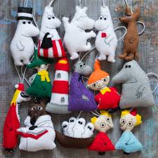 felt moomins christmas decorations my felt pinterest felting