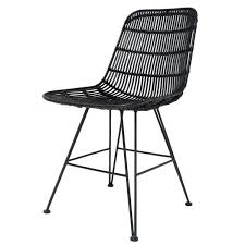Black Dining Chairs Hk Living Rattan Dining Chair Design