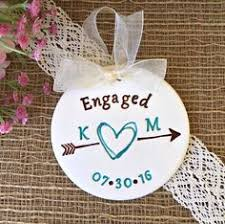 newlywed newly engaged christmas ornaments trees personalized