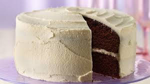 delicious chocolate cake with white frosting recipe bettycrocker com