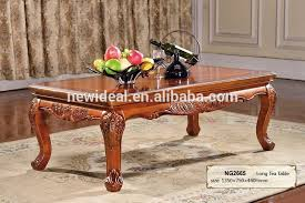 Wooden Tea Table Design High Class Large Rectangular Coffee Tables - Tea table design