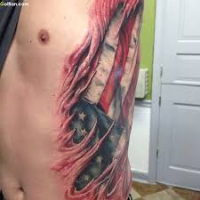 best 3d ripped american flag tattoo golfian com