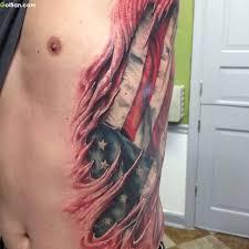 best 3d ripped american flag tattoo golfian com