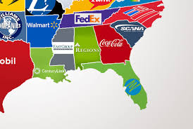 Show Me A Map Of Illinois by This Map Shows The Largest Company In Each State Simplemost