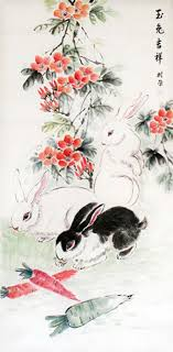 asian rabbit ring holder images 84 best moon rabbits images bunnies printmaking jpg