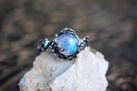 moonstone engagement rings sterling silver rainbow moonstone ring tenere moonstone