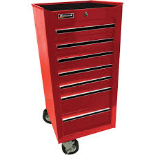Cabinet Tools Homak 17in Pro Series 7 Drawer Side Cabinet Tool Chests
